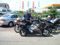 Malki with CBR1000 near Rotterdam, Holland.