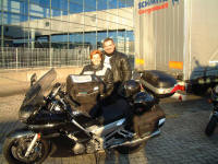 Fiona & Malki at IJmuiden...waiting for the ferry.