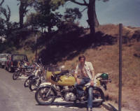 A skinny me and the trusty old CB750K0 in Guernsey.